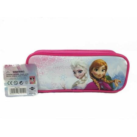 Disney Frozen Hot Pink Pencil Pouch Zippered Pencil Case Authentic Bag