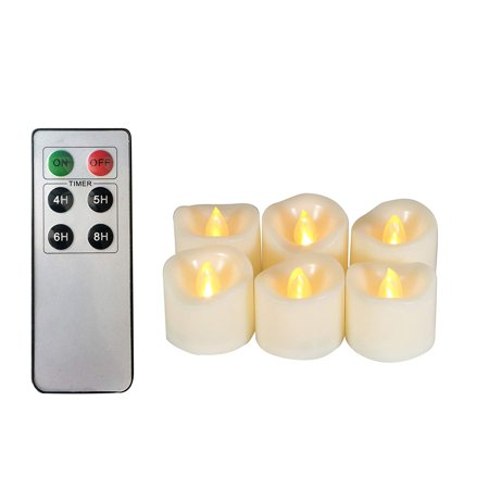 Flameless Led Tea Lights With Remote Amp Timer 6 Pack