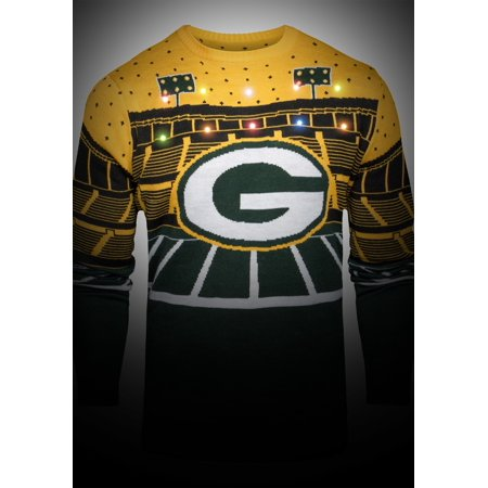 new concept 6f3db b96d5 Green Bay Packers Light Up Bluetooth Ugly Christmas Sweater ...