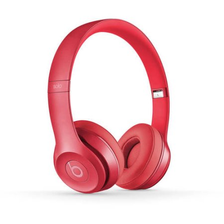 Beats Solo 2 Wired On-Ear Headphone Blush Rose (Certified Refurbished) In-Line Volume Control Royal Collection by Headphones-Beats