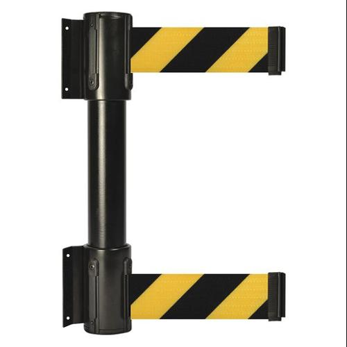 TENSATOR 896T2-33-MAX-D4X-C Belt Barrier, 13ft, Black w/ Yellow Stripe