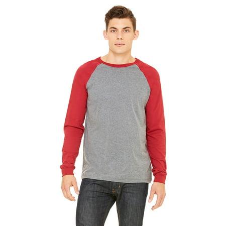 separation shoes 5ea18 63ecc Bella+Canvas 3000 Men's Jersey Long Sleeve Baseball T-Shirt