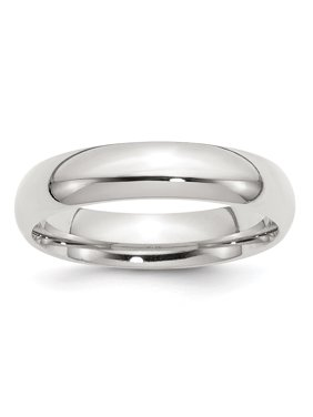 925 Sterling Silver 5mm Comfort Fit Band Ring - Ring Size: 4 to 13.5