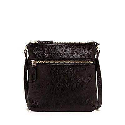susu black crossbody bag purse soft genuine leather cross...