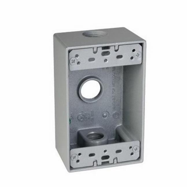 Gray TayMac DD575XS 4-1//2-Inch X 4-1//2-Inch Gang Weatherproof Box Side Lug 3//4-Inch Outlets