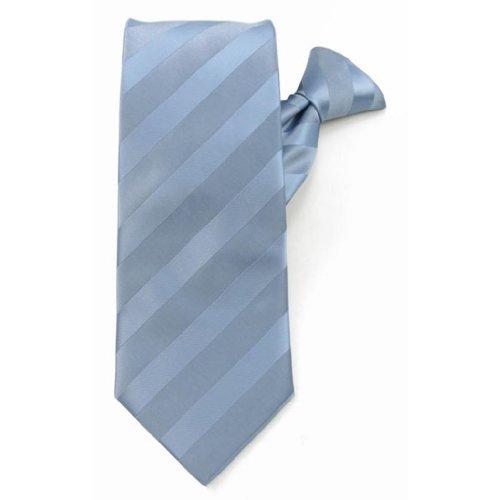 boys baby blue solid color tonal stripe clip on ties