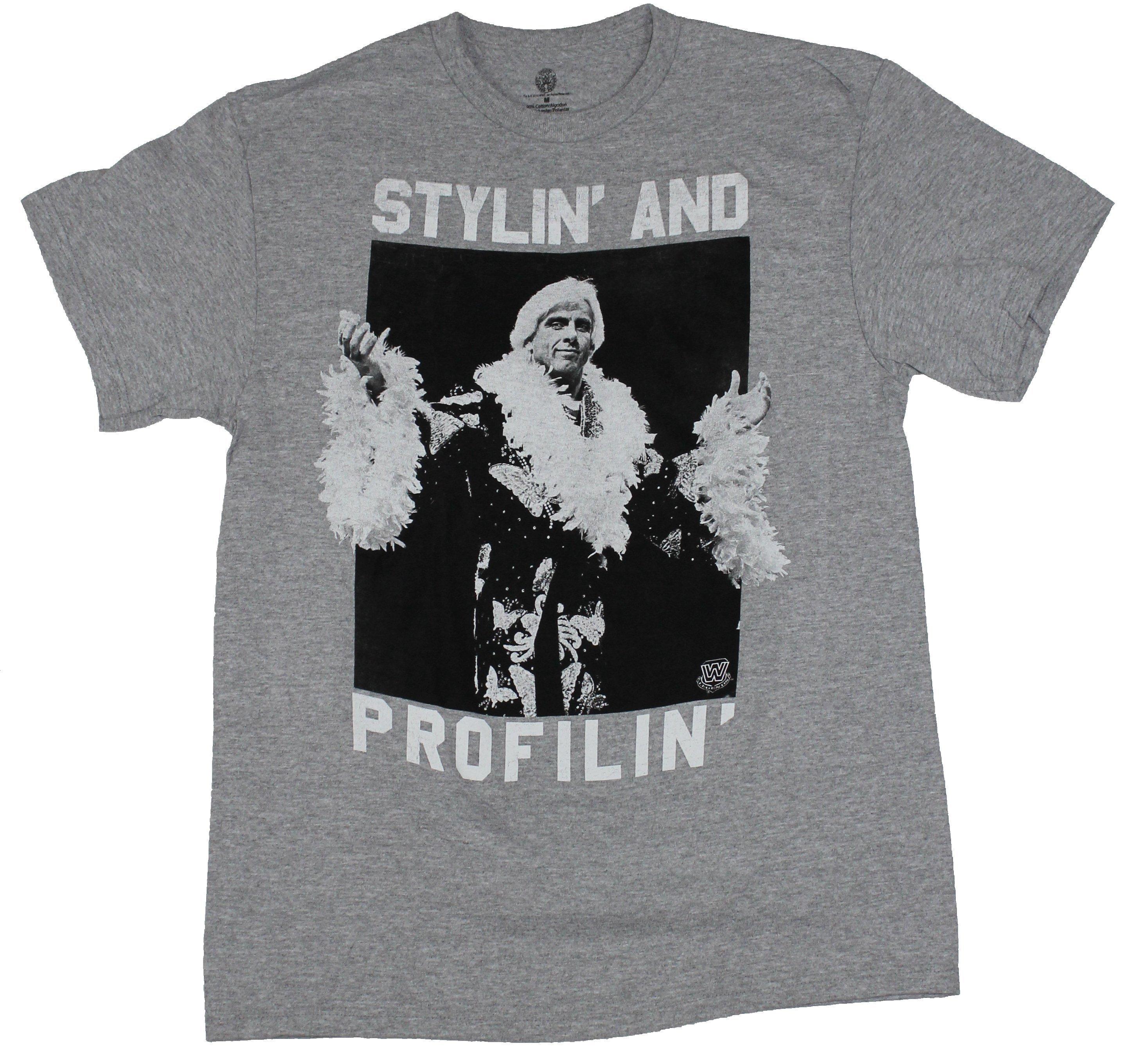 Ric Flair WWE Mens T-Shirt - Stylin & Profiln Photo Image (XXXX-Large)
