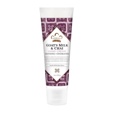 Nubian Heritage Hand Cream Goat's Milk And Chai with Rose Extract, 4 Oz ()