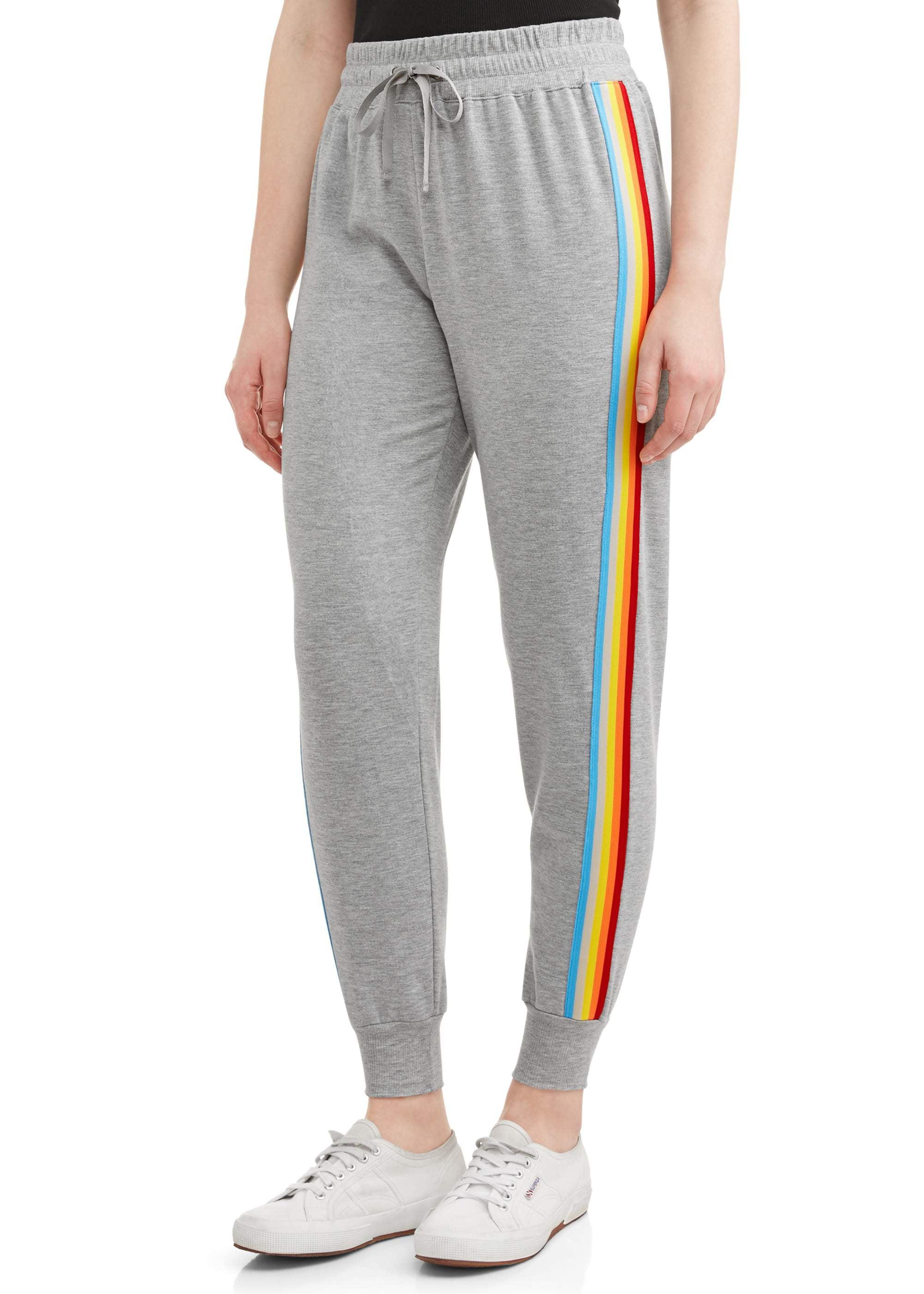 Juniors' Rainbow Side Stripe Joggers
