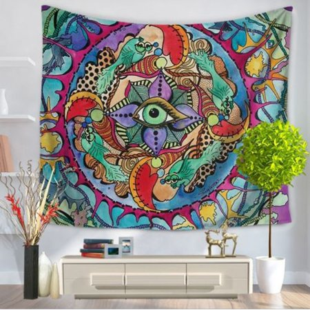 6354689f91 Indian Psychedelic Eye Art Wall Hanging Mandala Tapestry Hippie Bedspread  Home Decor Throw Perfect Ethnic Backdrop