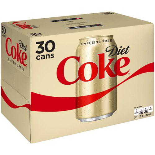 Diet Coke Caffeine Free Cola, 12 fl oz, 30 pack