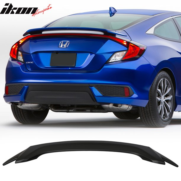 Compatible With 16 18 Honda Civic X 10th Gen 2dr Coupe Oe Factory Style Trunk Spoiler Abs Walmart Com Walmart Com