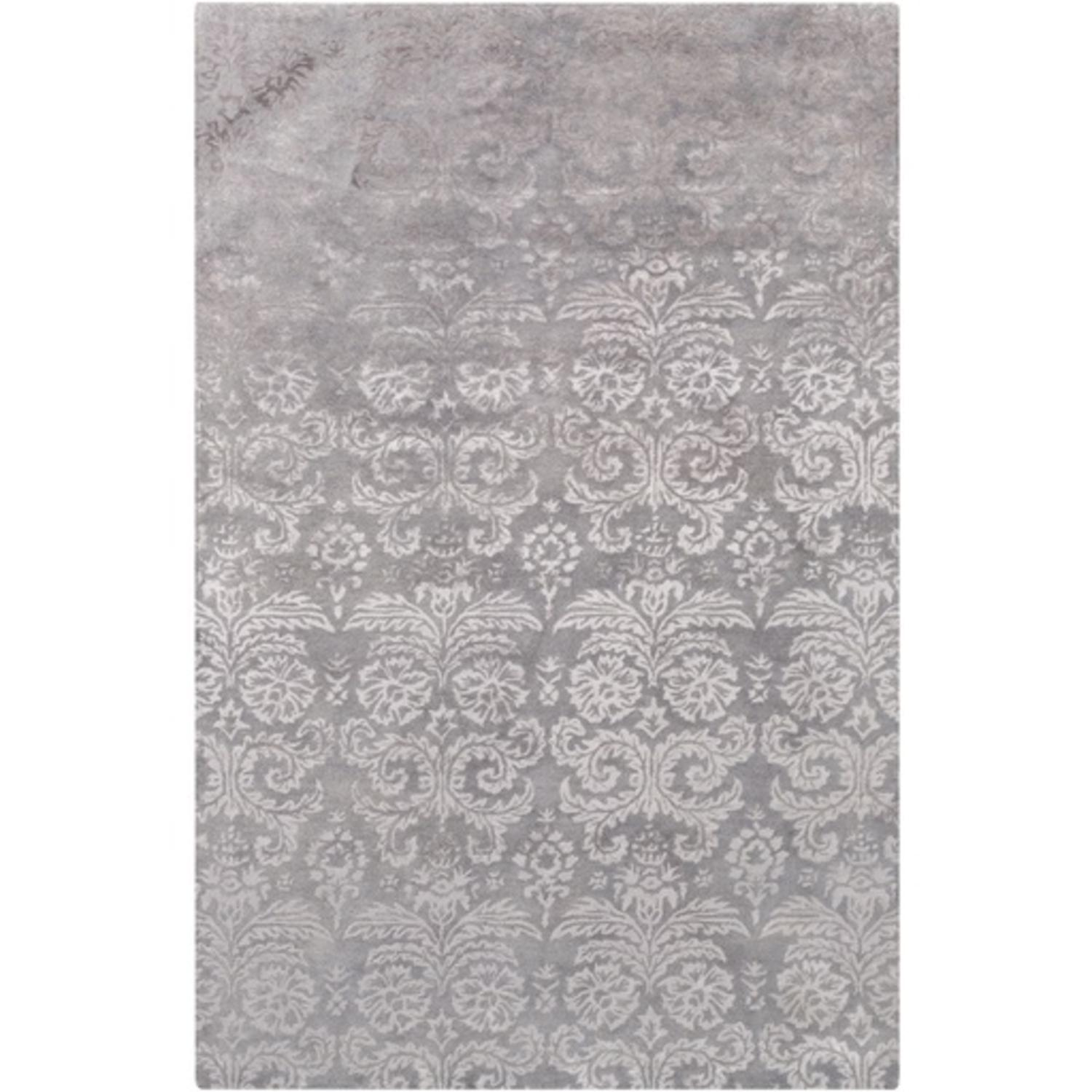 4' x 6' Filigree Fantasies Pewter Gray Hand Tufted Area Throw Rug