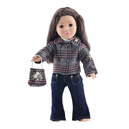 Plaid Jacket & Jeans Outfit 18 Inch Doll Clothes clothing Fits American Girl and Other... by Emily Rose Doll Clothes