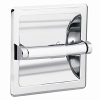 Donner Bath Furnishings Commercial Recessed Toilet Paper Holder in Polished Chrome