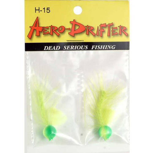 Image of Aerojig Company Hackle Series Aero Drifter, Size 10, Chartreuse, 2pc