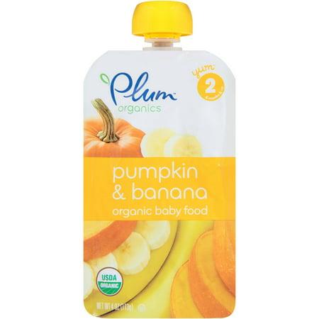 Plum Organics Stage 2 Pumpkin & Banana Organic Baby Food 4 oz. Pouch