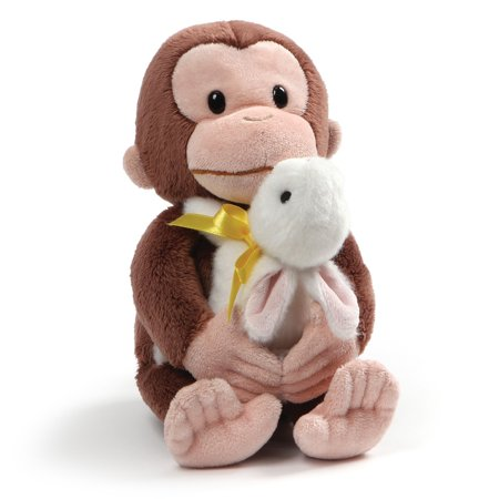 Gund Curious George with Bunny Plush, Multicolor,