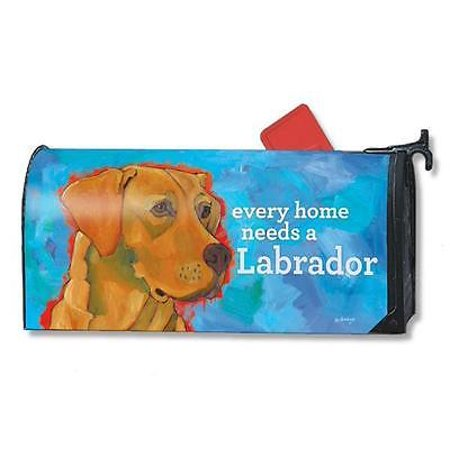 Magnet Works Mailwraps Yellow Lab Dog Original Magnetic Mailbox Wrap Cover