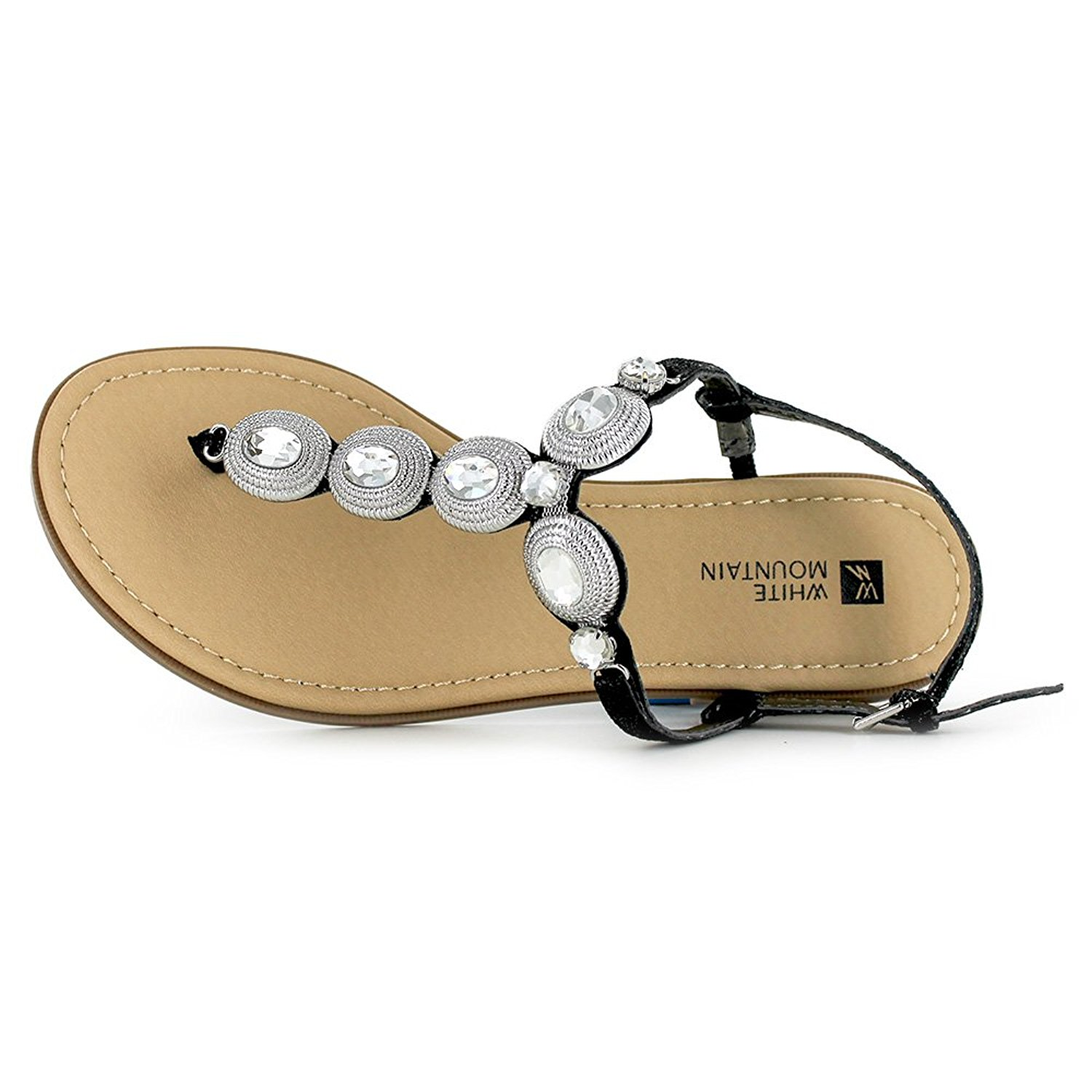 White Mountain Womens Glow Split Toe Casual T-Strap Sandals - image 1 of 2