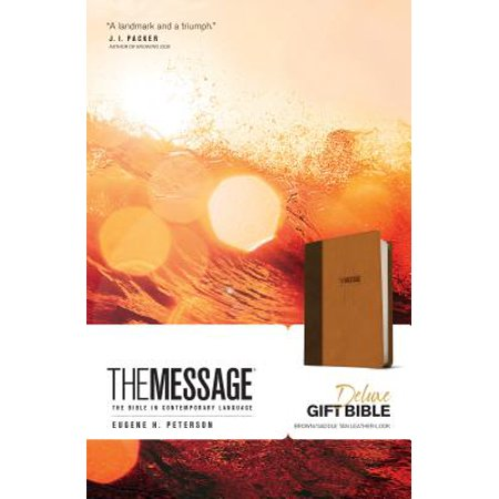 The Message Deluxe Gift Bible (Leather-Look, Brown/Saddle Tan) : The Bible in Contemporary Language](Minions In The Bible)