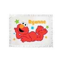 Personalized Sesame Street Elmo And Stars Ultra Soft Baby Blanket