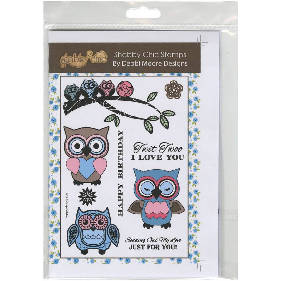 Debbi Moore Shabby Chic Clear Stamp Set-