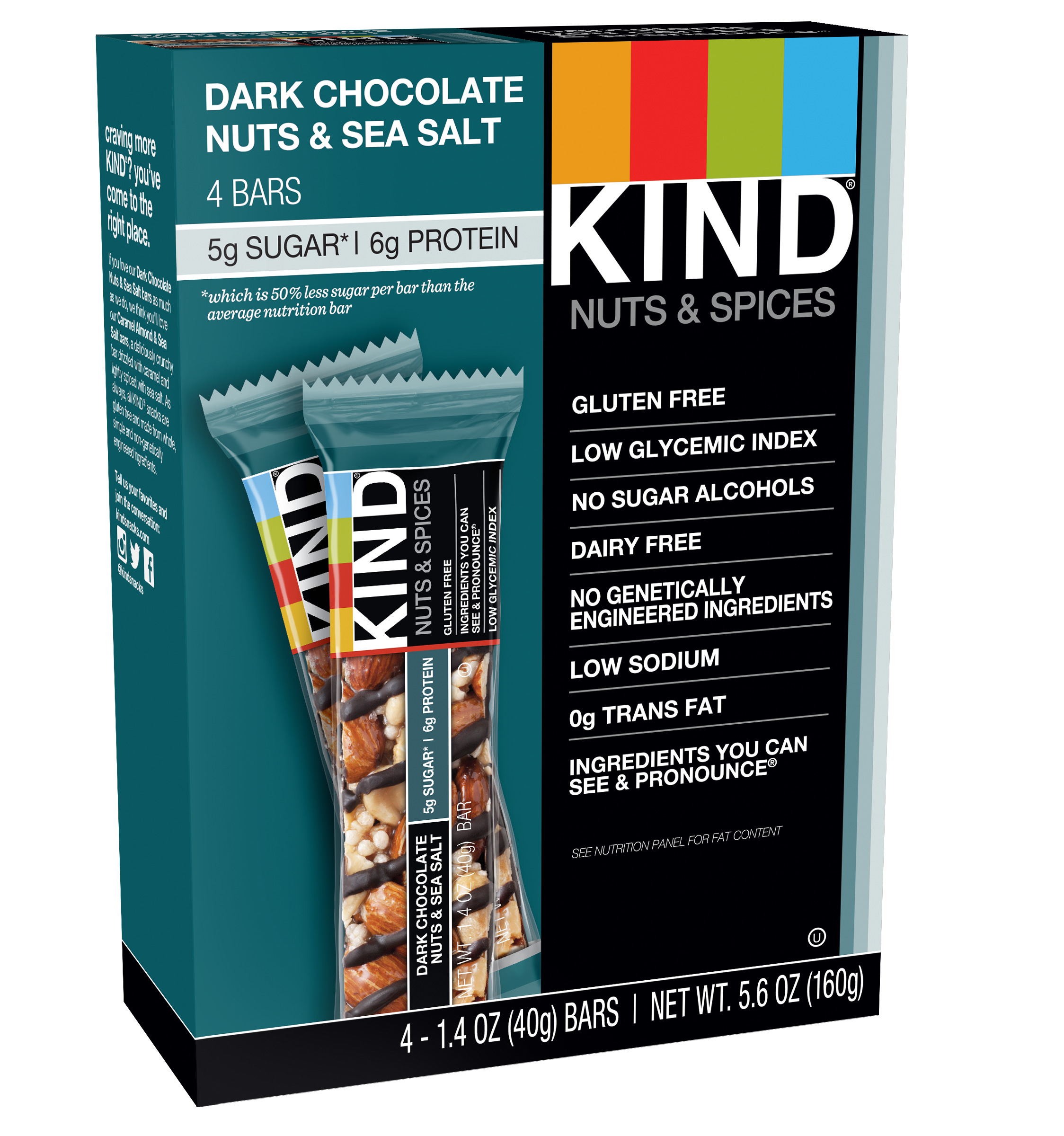 KIND Bars, Madagascar Vanilla Almond, 4 Bars, Gluten Free
