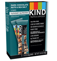 KIND Bars, Dark Chocolate Nuts & Sea Salt, 4 Bars, Gluten Free