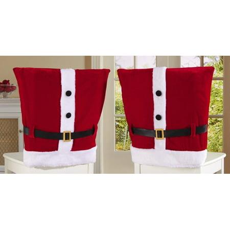 Miraculous Mbh Santa Claus Suit Chair Covers With Belt Buckle Christmas Creativecarmelina Interior Chair Design Creativecarmelinacom