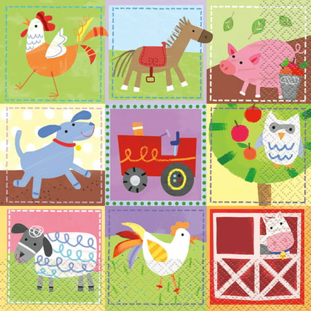 Barnyard Farm Party Paper Luncheon Napkins, 6.5 in, 16ct