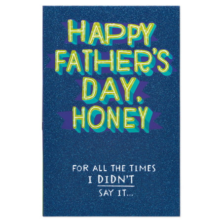 Blue Funny Note Cards (American Greetings Father's Day Card Funny Honey for Husband with)