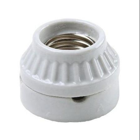 - Pass & Seymour 9880CC10 Incandescent Light Socket, Porcelain, Medium Base