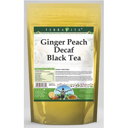 Ginger Peach Decaf Black Tea (25 tea bags, ZIN: 530298)