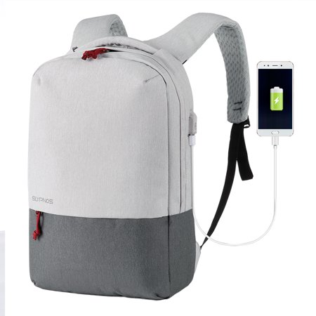 Slypnos Business Laptop Backpack Slim Anti Theft Computer Bag With Usb Charging Port Water Resistant Lightweight