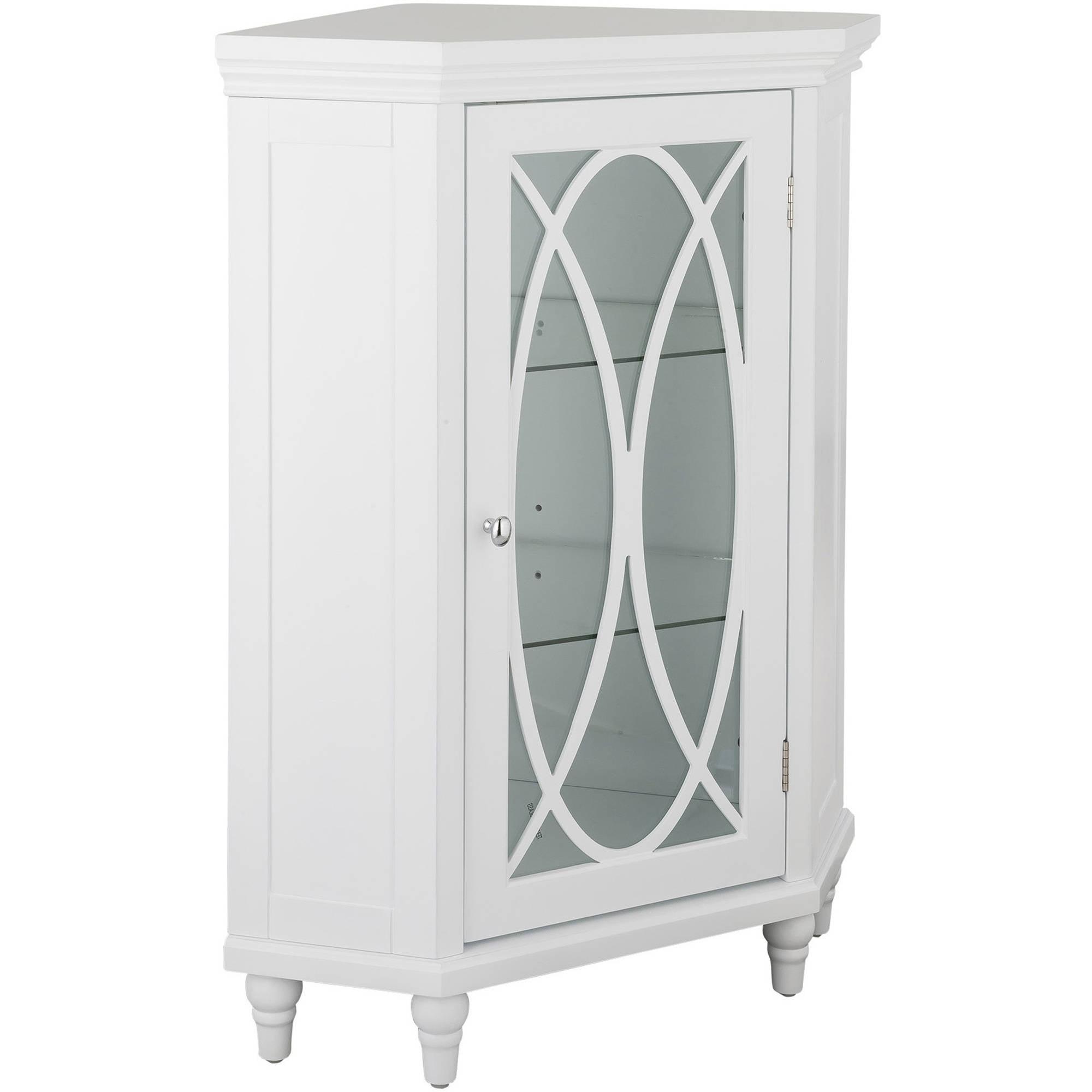 """32""""H Miller Corner Floor Cabinet Home Accent Bathroom"""
