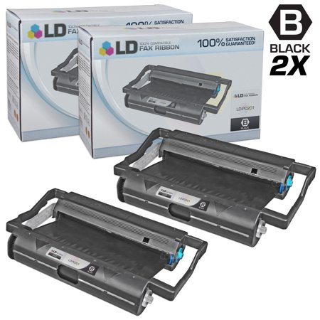 Compatible Replacements for Brother PC201 Set of 2 Fax Cartridges With Roll for use in Brother Intellifax 1170, 1270, 1270e, 1570MC, 1575MC, MFC 1770, 1780, 1870MC, and 1970MC Printers