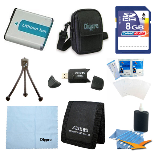 Special Fully Loaded Value 8GB Card and NB-9L Battery Kit for Canon Elph 510 HS & SD4500 - Includes NB9L 1000MAH LI-ION Battery, 8GB Memory Card, Carrying Case, USB 2.0 Card Reader, Mini Tripod, 3 Car