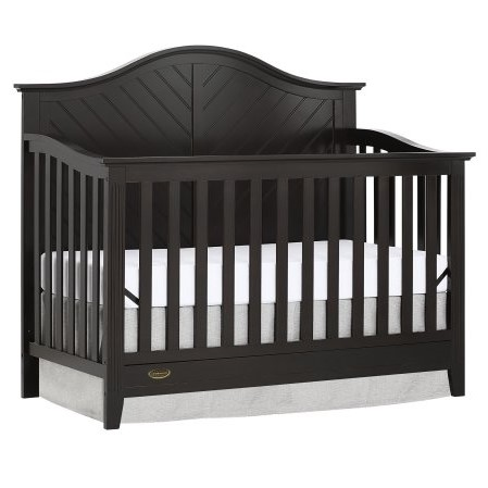Dream On Me Ella 5 in 1 Convertible Crib, Charcoal