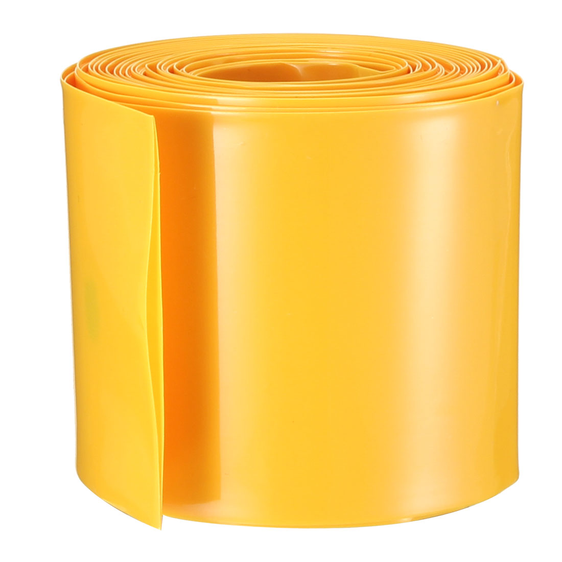PVC Heat Shrink Tubing Tube 50mm Battery Wrap for 2 x 18650 Battery 5M Yellow