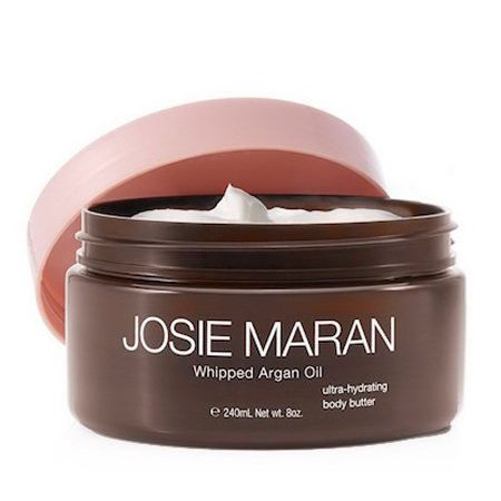 Josie Maran Whipped Argan Oil Ultra-Hydrating Body Butter, Toasted Brown Sugar, 8