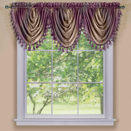 Ombre Waterfall Curtain Valance ()