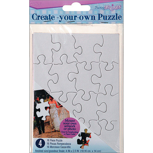 "Create Your Own Puzzle, 16pc, 4"" x 5\ by Darice"