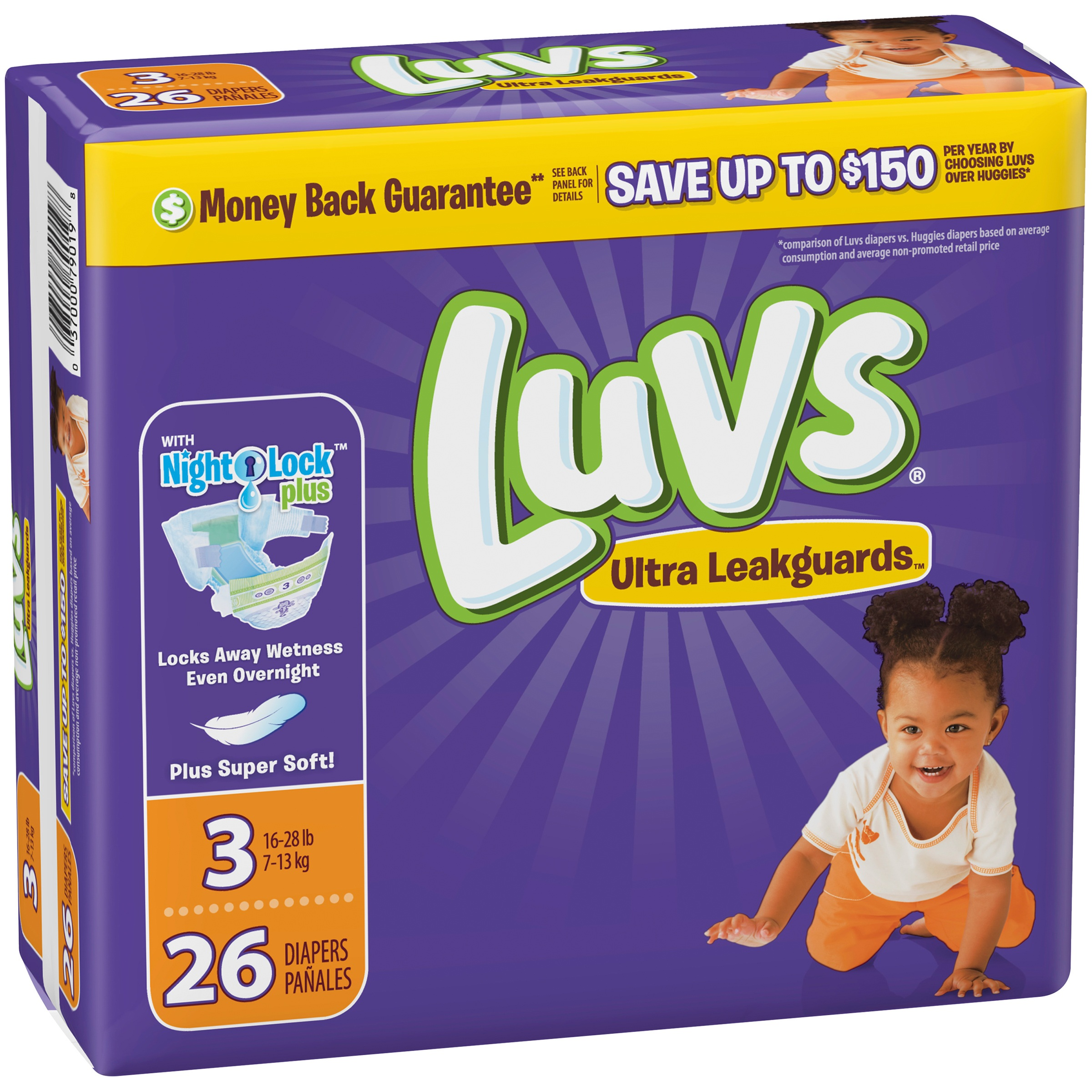 Luvs Ultra Leakguards Diapers Size 3 26 count