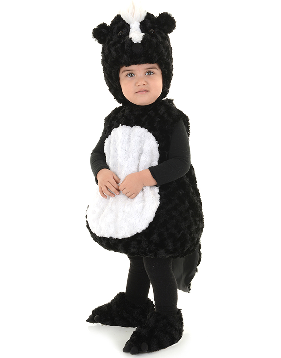 little stinker toddler childs plush black white baby skunk halloween