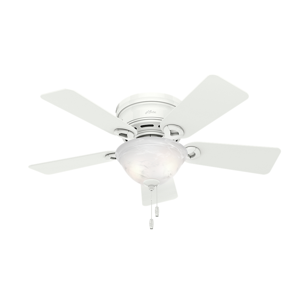 "Hunter 42"" Conroy Snow White Ceiling Fan with Light"