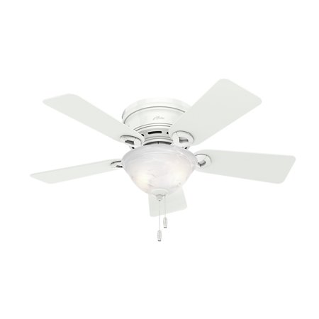 Hunter 42 Conroy Snow White Ceiling Fan With Light