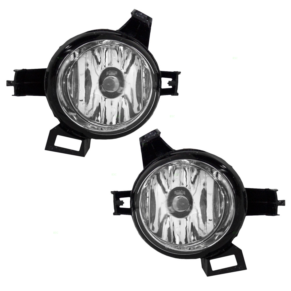 Driver and Passenger Fog Lights Lamps Replacement for Nissan Van 261555Z025 261505Z025