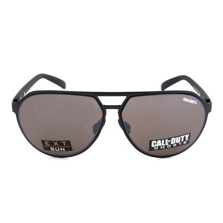 Call of Duty Black Aviator Sunglasses with Copper Contrast Sun (Call Of Duty Sunglasses)