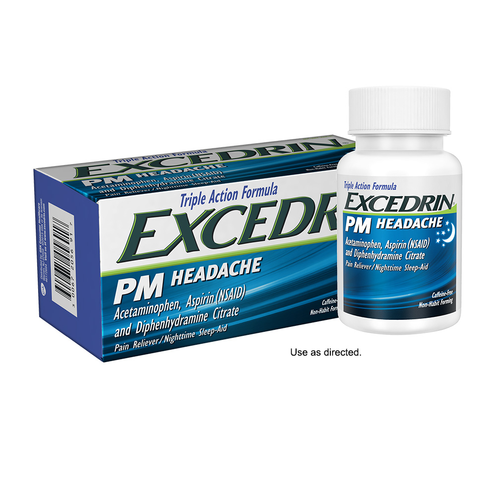 Excedrin PM Caffeine-Free Caplets for Headache Pain Relief